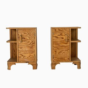 Swedish Pinewood Nightstands, 1930s, Set of 2