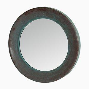 Großer runder Spiegel von Glasmäster, 1960er