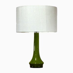 Lampe de Bureau Scandinave en Verre Opalin, années 60