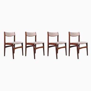 Danish Teak Dining Chairs by Erik Buch, 1960s, Set of 4