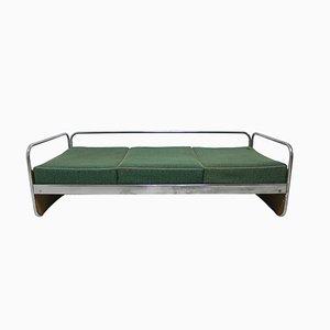 Sofá cama cromado de Kovona, años 50