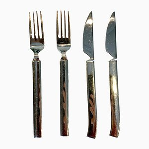 Stainless Steel Zenit Flatware by Anders Ljungberg for Boda Nova, 1990s, Set of 4