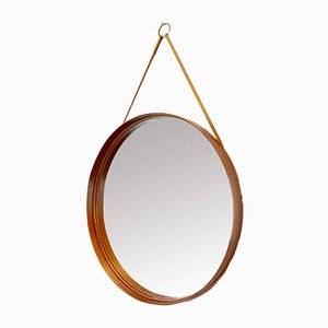 Swedish Model 103 Teak and Plywood Mirror from Markaryd, 1960s
