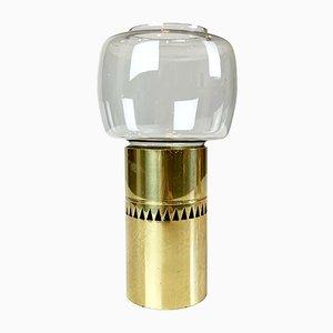 Model Lotta Brass & Glass Candleholder from Hans-Agne Jakobsson AB Markaryd, 1960s