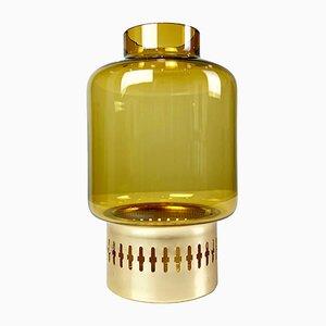 Model Rasmus Brass & Glass Candleholder from Hans-Agne Jakobsson AB Markaryd, 1960s