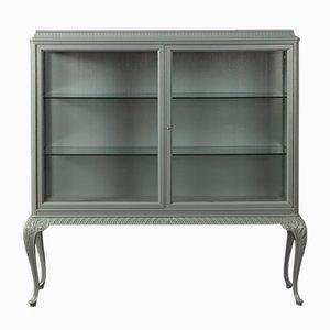 Walnut Veneer Display Cabinet, 1950s