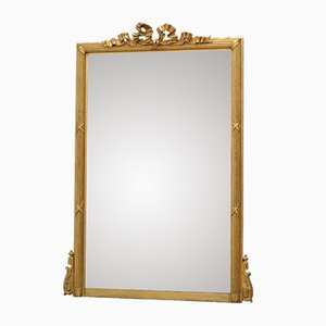 Antique French Giltwood-Framed Wall Mirror