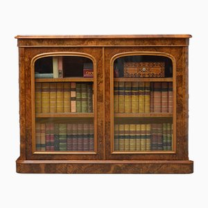 Antique Victorian Burr Walnut Bookcase