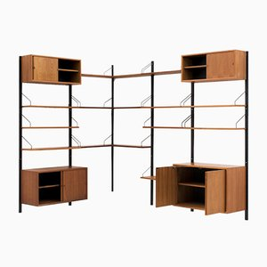 Danish Modular Corner Wall Unit Set by Poul Cadovius for Cado, 1960s
