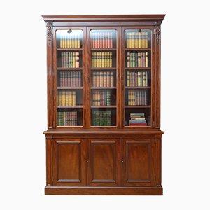 Antiker viktorianischer Bücherschrank aus Mahagoni von John Taylor & Son