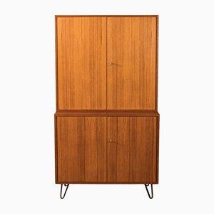 Mueble de chapa de teca de DeWe, años 50