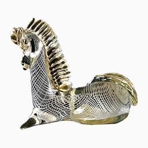 Glass Horse Sculpture from Seguso, 1970s