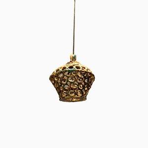 Italian Ceramic Pendant Lamp by Vietri, 1960s