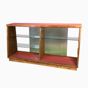 Bancone in vetro e quercia, anni '40