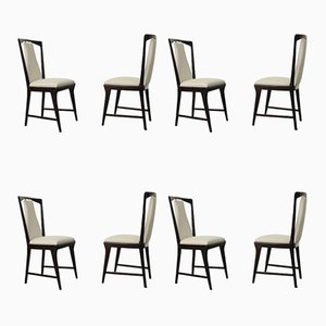 Mahogany Dining Chairs by Osvaldo Borsani, 1948, Set of 8
