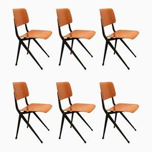 Esszimmerstühle aus Schichtholz von Marko, 1960er, 6er Set