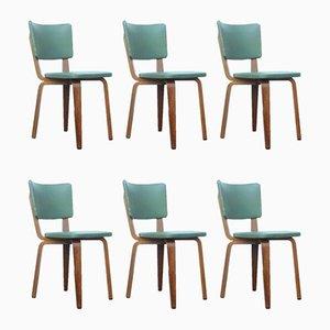 Esszimmerstühle aus Schichtholz von Cor Alons für Gouda den Boer, 1940er, 6er Set