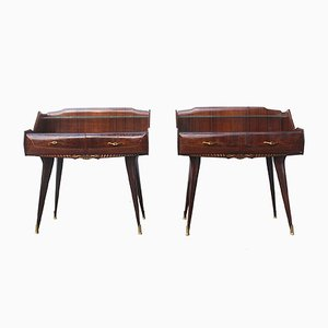Italian Rosewood Nightstands, 1940s, Set of 2