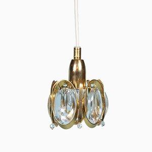 Vintage Deckenlampe aus Kristallglas von Gaetano Sciolari für Palwa, 1950er