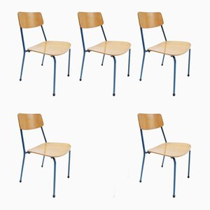 Vintage Stacking Childrens Chairs, Set of 5