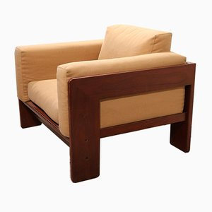 Sessel mit Gestell aus Palisander von Tobia Scarpa für Gavina, 1960er