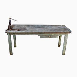 Grande Table de Travail Industrielle Ancienne