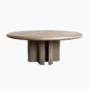 Table Basse en Pierre d'Ardoise par Paul Kingma, 1989