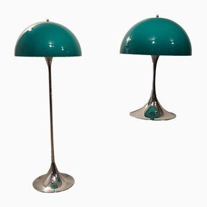 Panthella Floor Lamps by Verner Panton for Louis Poulsen, 1972, Set of 2