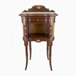 Mobiletto in stile Luigi XVI antico in ottone e marmo