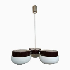 Opal Glass Ceiling Lamp from Peill & Putzler, 1977