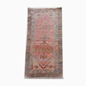 Türkischer Oushak Yastik Teppich in blassen Farbtönen, 1970er