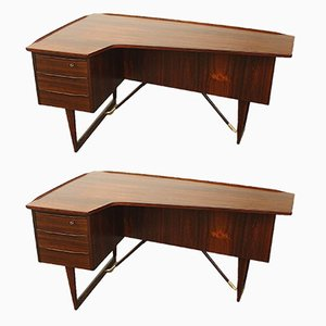 Rosewood Desk and Chair by Peter Løvig Nielsen, 1956, Set of 2