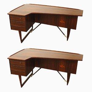 Schreibtisch & Stuhl aus Palisander von Peter Løvig Nielsen, 1956, 2er Set