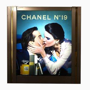 Werbeanzeige mit Beleuchtung von Chanel, 1980er