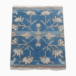 Turkish Hand-Knotted Tribal Bath Rug, 1970s