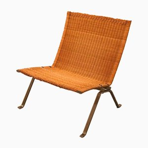 Rattan and Wicker PK22 Lounge Chair by Poul Kjærholm for Fritz Hansen, 1982