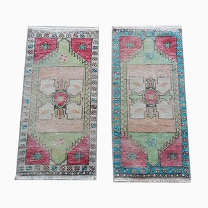 Turkish Hand-Knotted Oushak Rugs, 1970s, Set of 2