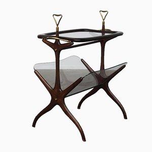 Tisch mit Zeitungsständer & Serviertablett, 1950er