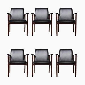 Konferenzstühle aus Palisander von Arne Vodder für Sibast, 1960er, 6er Set