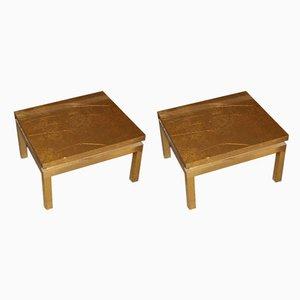Tables Basses par Guy Lefevre pour Maison Jansen, années 50, Set de 2