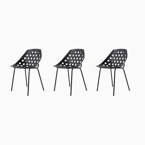 Chaises d'Appoint par Pierre Guariche pour Meurop, années 60, Set de 3