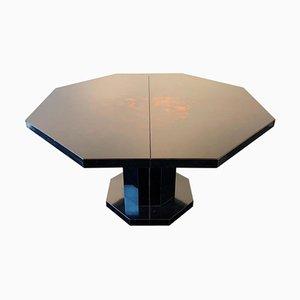 Mesa de comedor de madera lacada, años 70