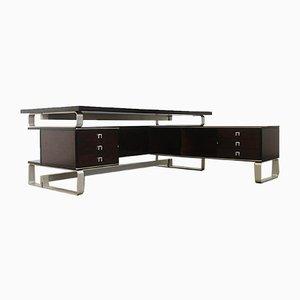 Italian Mahogany Desk from Abbondinterni, 1970s