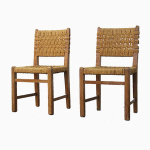 Side Chairs by Adrien Audoux & Frida Minet for Vibo Vesoul, 1950s, Set of 2