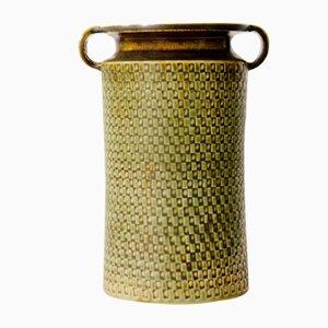 Jarrón de cerámica de gres de Stig Lindberg para Gustavsberg, años 50