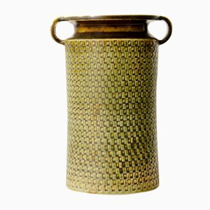 Vase aus Steingut von Stig Lindberg für Gustavsberg, 1950er