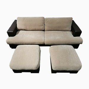 Juego de sofá y reposapiés de Roche Bobois, década de 2000