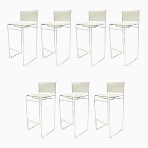 Side Chairs and Bar Stool by Giandomenico Belotti for Fly Line, 1970s, Set of 7