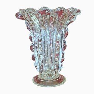 Jarrón de cristal de Murano de Ercole Barovier para Barovier & Toso, años 50