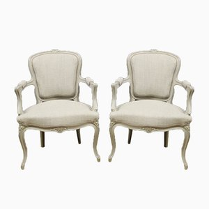 Antique Louis XV Style Lounge Chairs, Set of 2